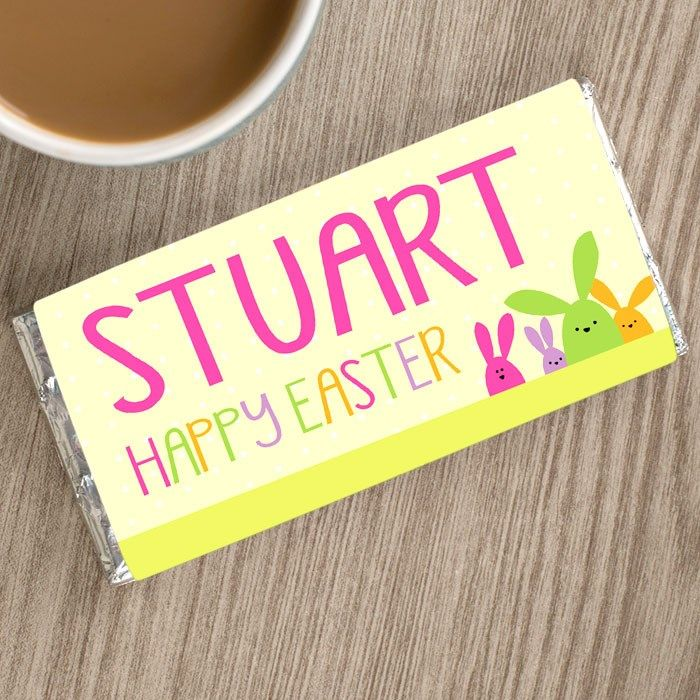 96 best easter images on pinterest personalised chocolate bar happy easter gettingpersonal negle Gallery