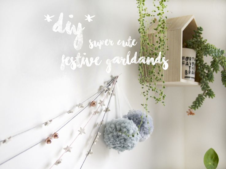 Super cute festive garlands by OH NO Rachio!