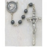 Hematite Papal Rosary