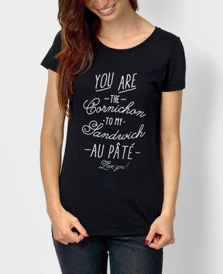 T-shirt Femme Cornichon Noir by Charlie's Dreams