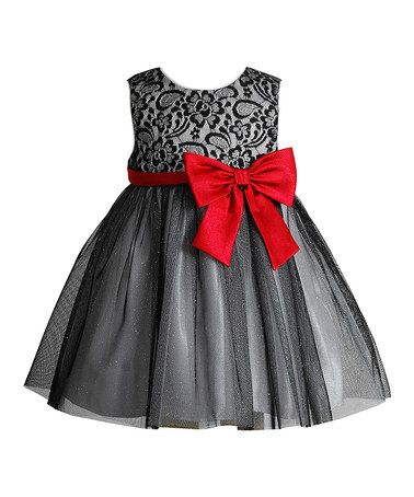 This Silver & Red A-Line Dress - Infant is perfect! #zulilyfinds