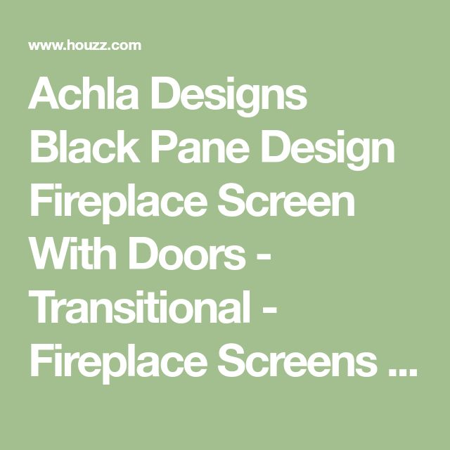 Achla Designs Black Pane Design Fireplace Screen With Doors - Transitional - Fireplace Screens - by The Mine
