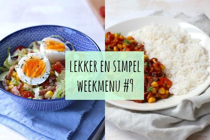 Op zoek naar een weekmenu met lekkere en simpele recepten? Dan ben je hier aan het juiste adres! Veel succes met koken en eet smakelijk.
