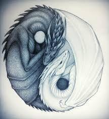 Resultado de imagen para yin yang dragon