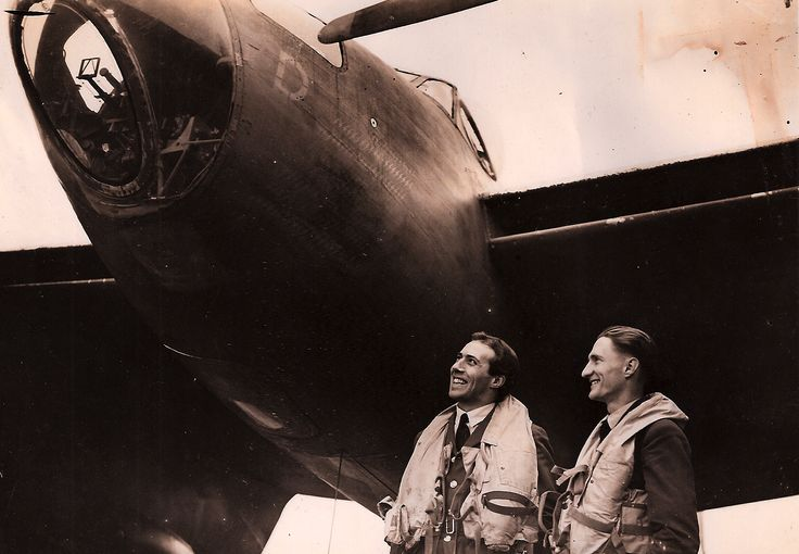 A very unlikely hero: Flying Officer John Custance Baker DFC & Bar, 3 May 1921 to 10 May 1945 (Picture: Mosquito D for Dorothy Briggs and Baker)