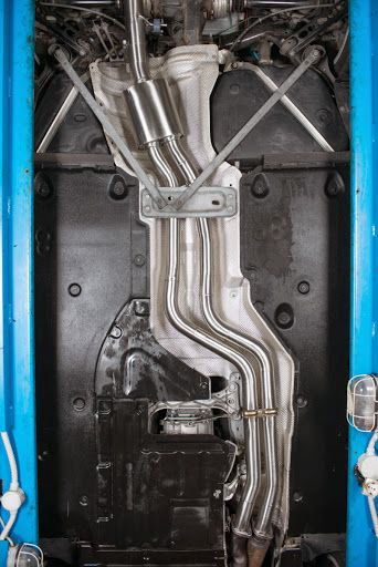 Isn't it awesome? BMW 1 ER M COUPÈ ( 250kW) - catalyst and centre silencer replacement pipe + duplex rear silencer
