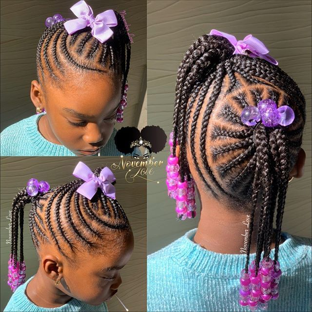 Children S Braids And Beads Booking Link In Bio Childrenhairstyles Braidart Childrensbraids Kids Hairstyles Kids Braided Hairstyles Black Kids Hairstyles