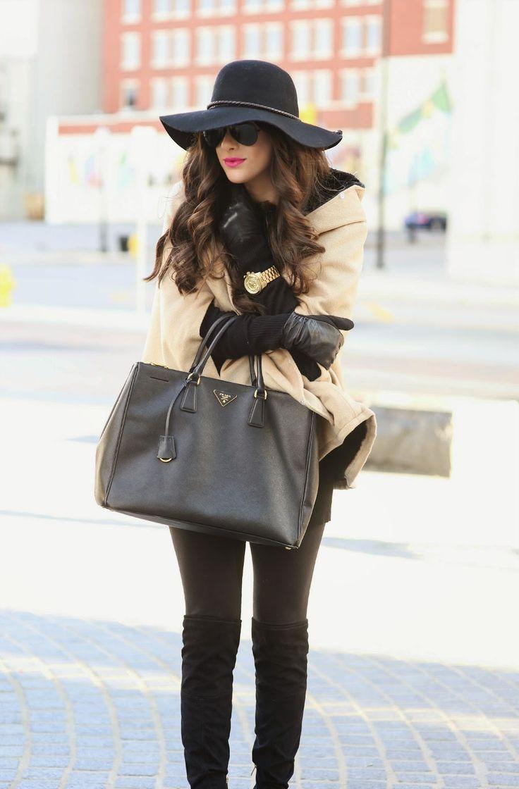 cape, bag, hat - love