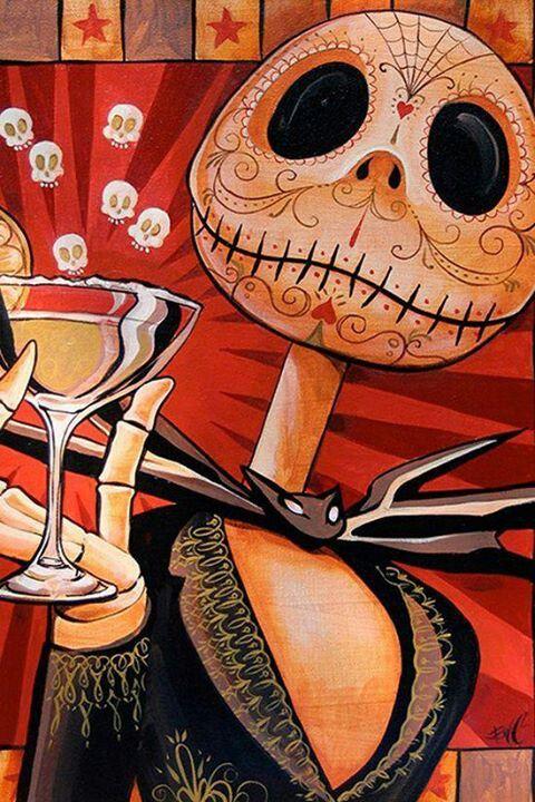 Dark art: Cheers with Jack Skellington