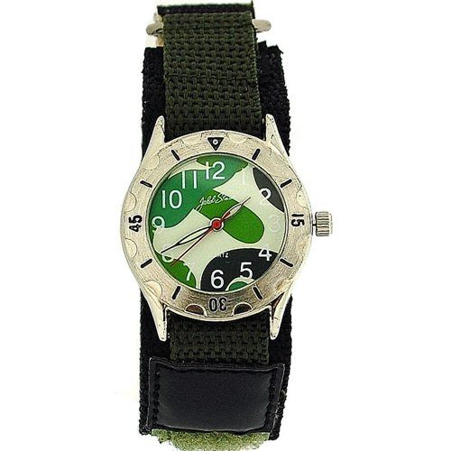 Jakob Strauss Khaki Army Camouflage Velcro Strap Boys Sports Watch JAST02