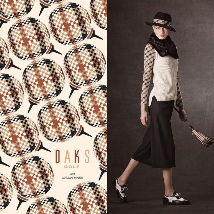 AW2016 GOLF LOOK BOOK  DAKS公式HPからご覧いただけます。 URL:http://www.daks-japan.com/womenswear/lookbook/  #ゴルフ #DAKS #ゴルフウェア #2016aw