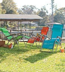 Adjustable Zero Gravity Outdoor Lawn And Beach Chair In Bright Colors    Plow U0026 Hearth