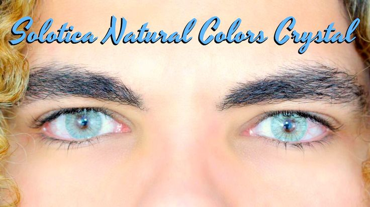 Solotica Natural Colors Crystal BEST Contact Lenses Contacts To Cover Da...
