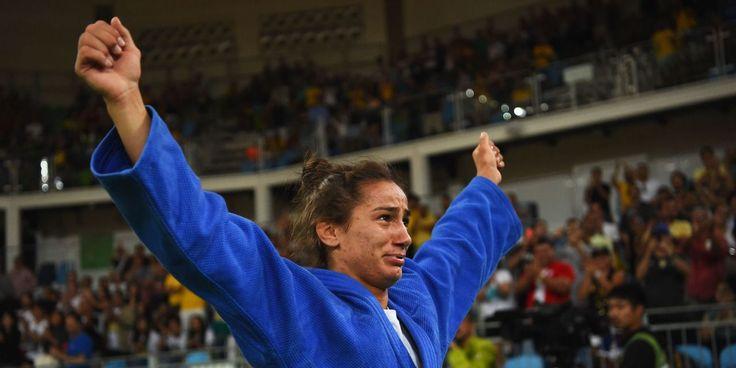 Kelmendi represented Albania four years ago in London where she did not medal…