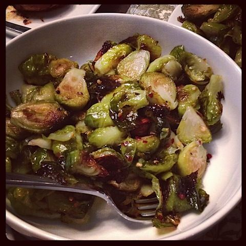 Sweet and Spicy Brussel Sprouts