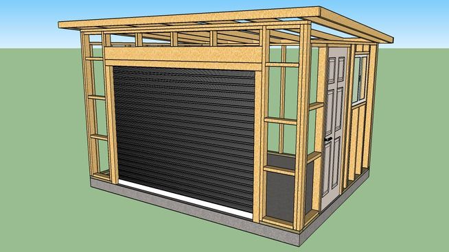 10x12 Wood Shed Roll Up Door Shed Roof Roll Up Doors Shed Doors Wood Shed