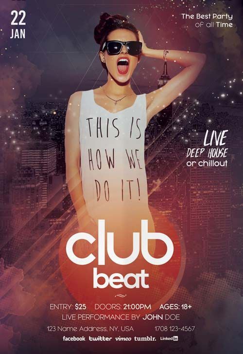Club Beat Party Free PSD Flyer Template - http://freepsdflyer.com/club-beat-party-free-psd-flyer-template/ Enjoy downloading the Club Beat Party Free PSD Flyer Template created by Stockpsd! #Club, #Concert, #Dance, #Dj, #EDM, #Electro, #Gig, #Live, #Music, #Nightclub, #Party, #Sound