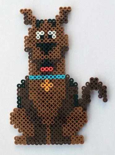 Handmade Perler Bead #ScoobyDoo Fridge Magnet