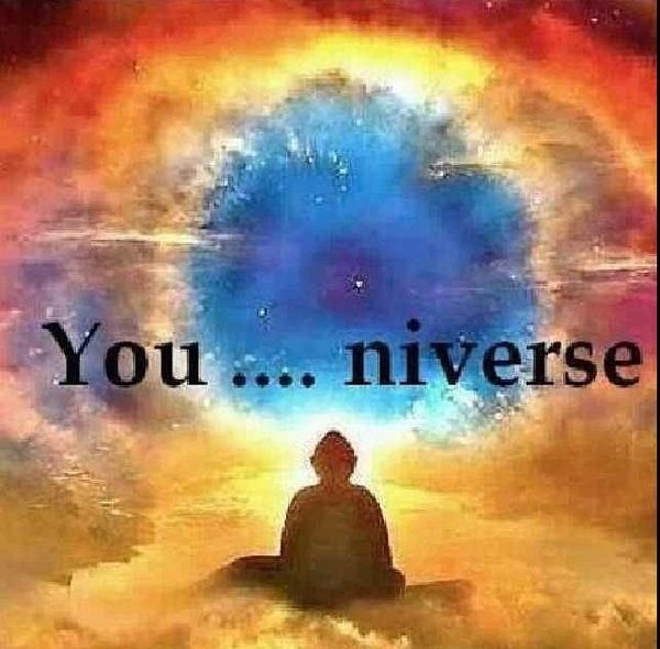 "❤️☀️ YOU-INverse; God incarnate. ""The Great Spirit,"" The Universe and You, The Universe and I, it's all connected...I GO WITH MY SOUL AND THE GREAT SPIRIT OF THE UNIVERSE. It's within all of us. We are all made from star stuff."