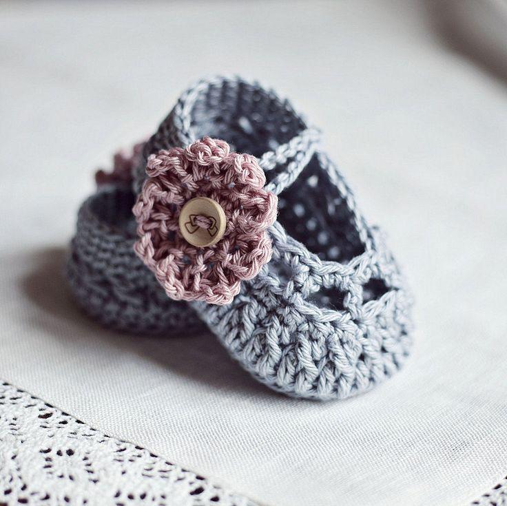 Baby Booties Crochet PATTERN (pdf file) - Old Rose Baby Booties $3.99