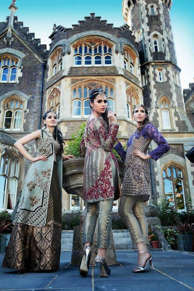 Latest Arrival Saira Rizwan gulmohar bridal collection 2015 2016 (6)