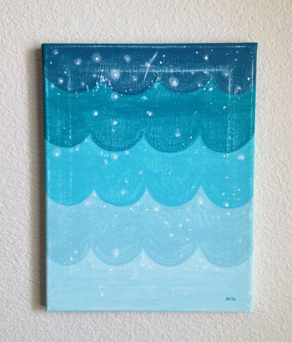 Ombré Ocean,baby and kids art, decor, ombré, blue, ocean on Etsy, $55.00