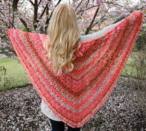 Pattern Square Shell lace scarf Our most popular triangle scarf in a year!