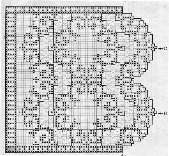 214 best Tende a filet images on Pinterest | Crochet lace, Crochet ...