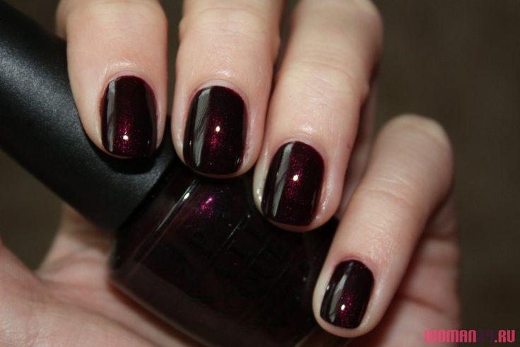 Фото темный гель лак короткие ногти - Выбор цвета лака для коротких ногтей