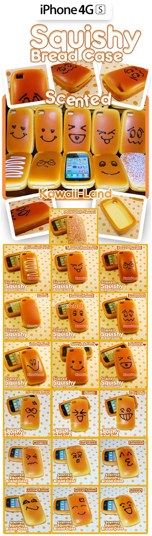Squishy Bread iPhone Case...smells and feels like bread!
