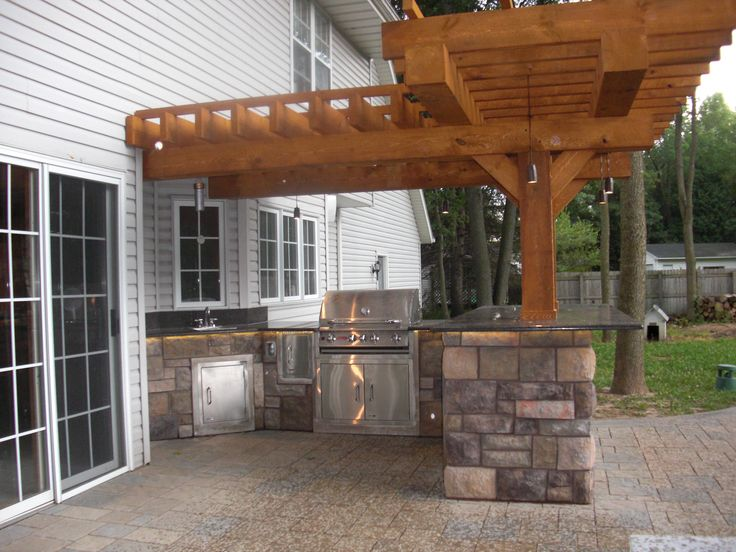 Pergola Granite Countertops Cultured Stone Paver Patio