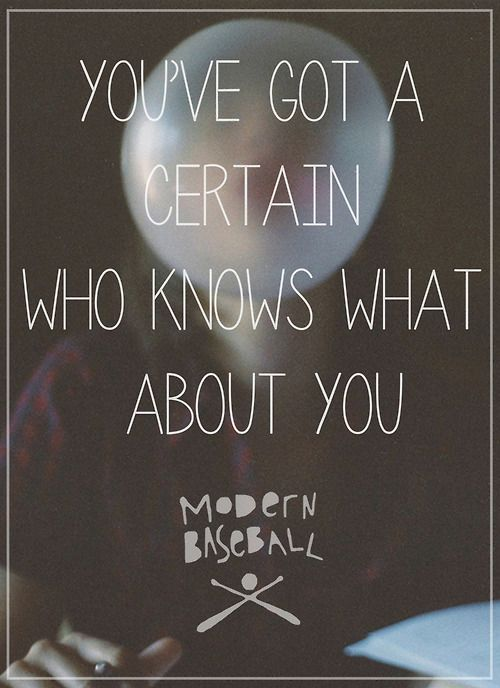 Modern Baseball - I Think You Were In My Profile Picture Once