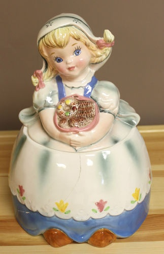 Dutch Girl Vintage Cookie Jar by Leftons Japan | eBay