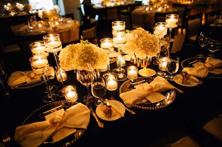 Wedding table setup.