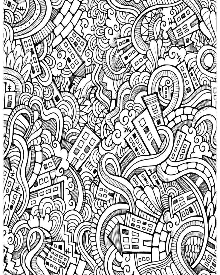 35 best Motif de coloriage difficile pour adulte - Difficult pattern adult coloring page images ...