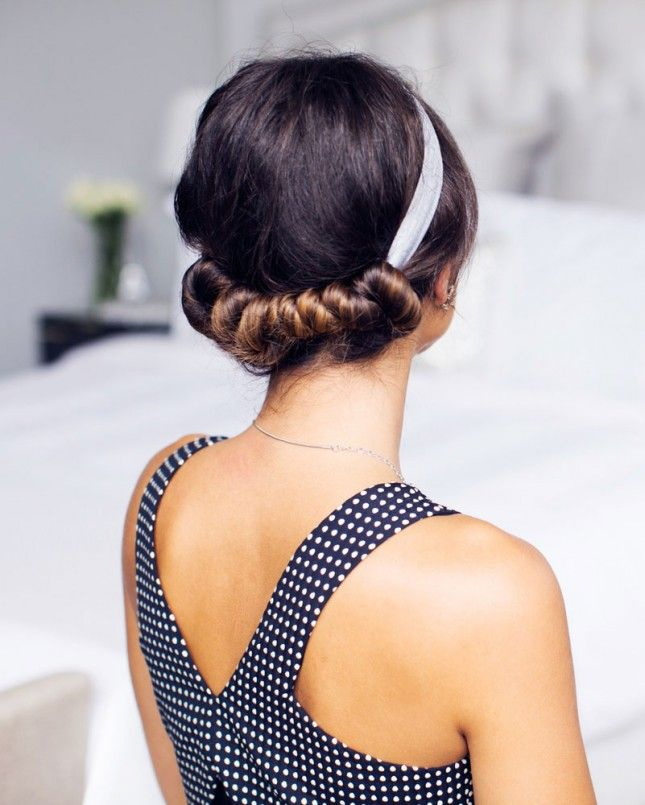 Wrap you hair around a headband to get perfect laid back looking waves.