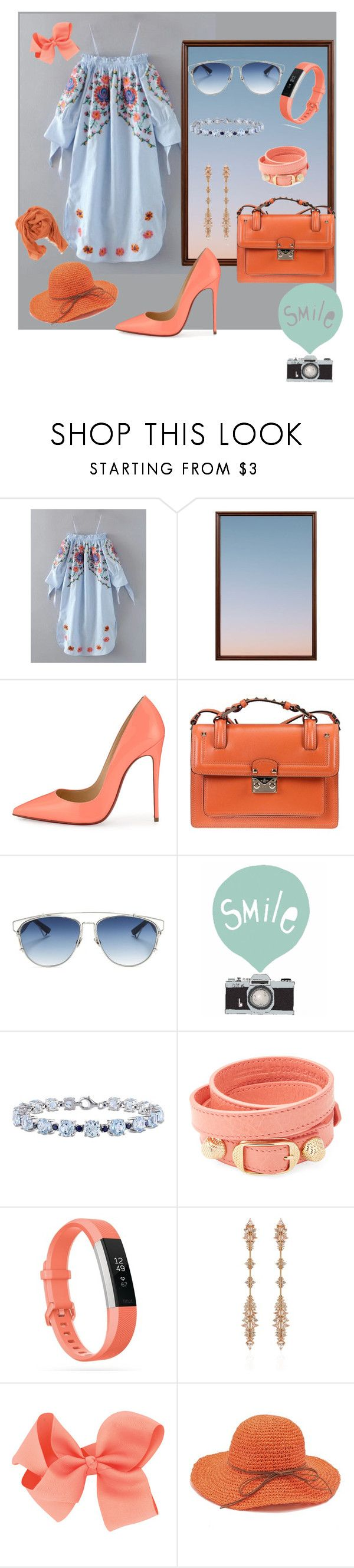 """""""Untitled #157"""" by rozy56 ❤ liked on Polyvore featuring Pottery Barn, Christian Louboutin, Valentino, Christian Dior, Seventy Tree, Miadora, Balenciaga, Fitbit, Fernando Jorge and Pomandère"""