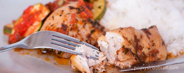 udka z kurczaka w ziołach i pomidorach