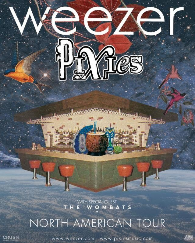 Weezer and Pixies Announce Summer 2018 Co-Headline Tour – WEEZER AND PIXIES ANNOUNCE SUMMER 2018 CO-HEADLINE TOUR Tickets On Sale Starting November 10 at Ticketmaster.com Today, Pixies and Weezer have announced a massive, co-headlining seven-week North American tour for summer 2018. Presented by Live Nation, the tour has dates starting June 23 in Tampa, Florida... #pixies #thewombats #weezer