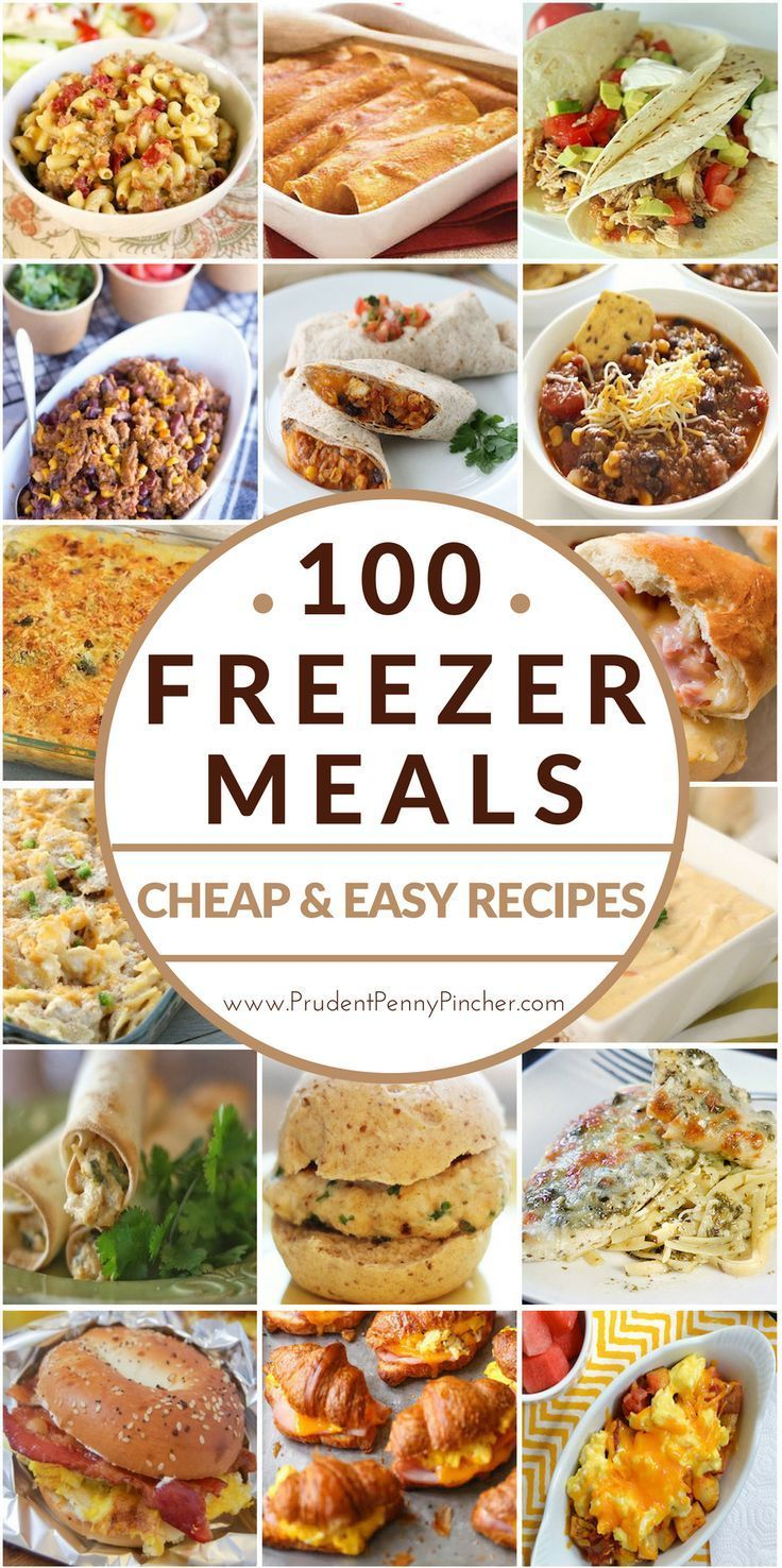 Easy dinner ideas with crock pot freezer meals. Prep these 10 crockpot recipes ahead of time, place ingredients into a ziplock bag and put in the freezer. When you're ready to use the freezer meals thaw in the refrigerator overnight and dump into the crock pot.