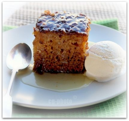 malva pudding - what a treat.  Served with ice cream or custard