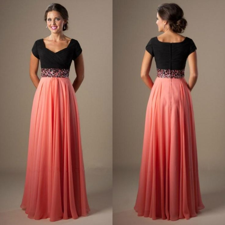 2015 Cheap Long A Line Beading Chiffon Pleated Modest Prom Dress With Cap Sleeves Stunning Prom Dresses Tulle Prom Dresses From Beautypalace, $101.28| Dhgate.Com