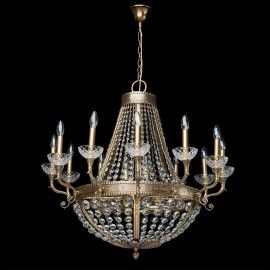 Lustre chandelier or et cristal