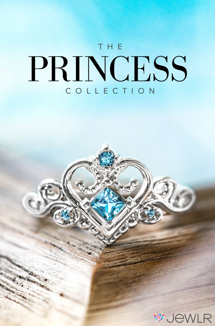 Make every day feel like a fairytale with your own Princess Tiara Ring! Design your dream ring by choosing from a selection of styles and personalizing with your choice of metal and gemstones. It's the perfect gift for any girl who loves to feel like royalty.