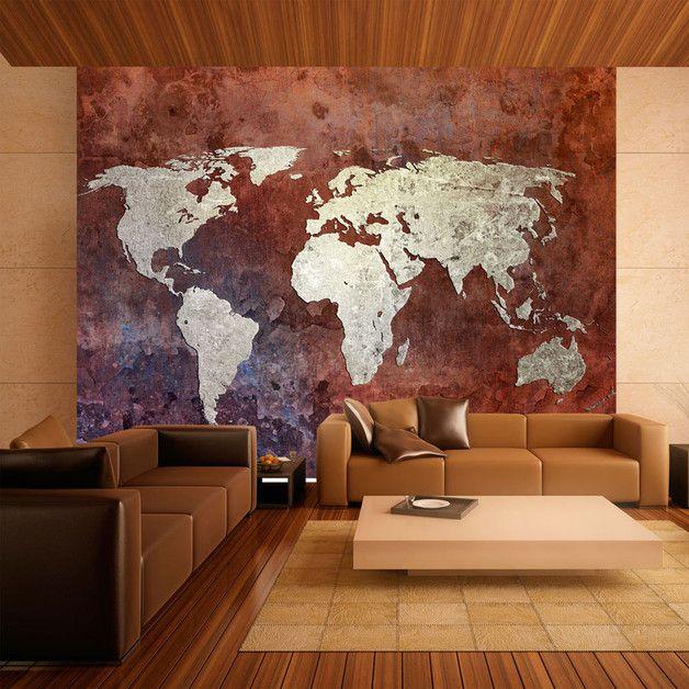 Stunning Tapeten Vlies fototapete x Weltkarte ein Designerst ck von designart bei DaWanda