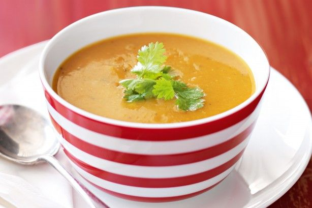 Our Thai sweet potato and lentil soup makes a super-fast, budget-friendly family meal.