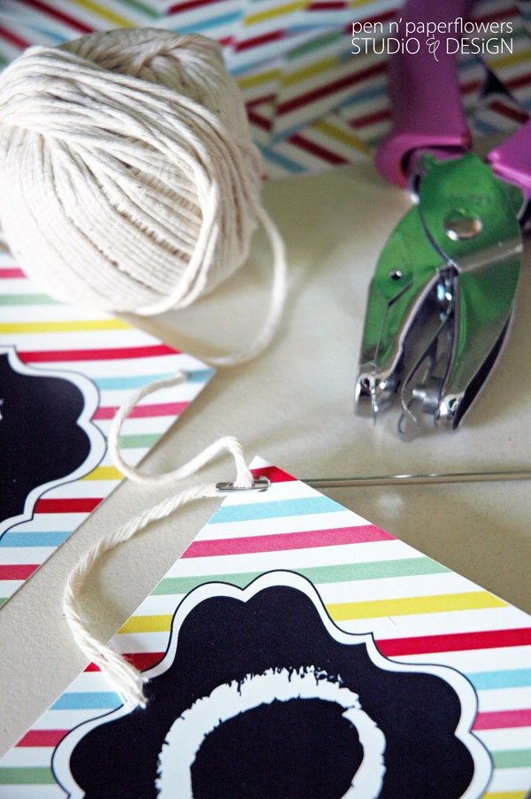 The secret for quickly stringing a banner! #partyplanning #banners #diy