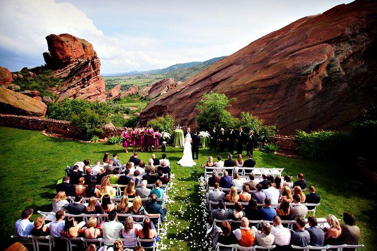 wedding parks in Denver Colorado | denver wedding photographer wedding ceremony at red rocks trading post ...