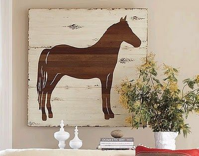 Horse art board, with any animal
