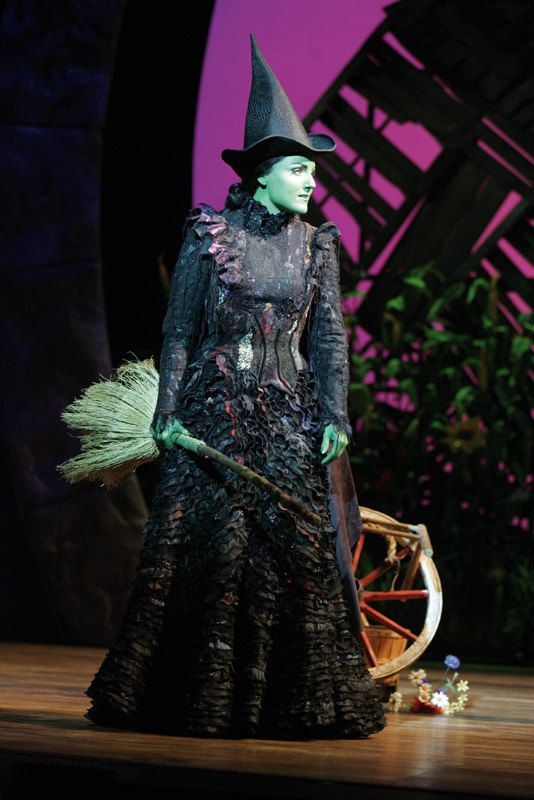 Elphaba, other wise known as The Wicked Witch Of The West. She isn't evil though and anyone that tries to tell me otherwise... My favourite character!